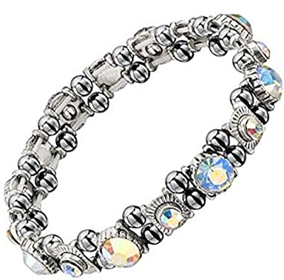 Premium Sparkling Crystal Hematite Magnetic Bracelet - Healing for Joint Pain, RSI, Carpal Tunnel and Migraines
