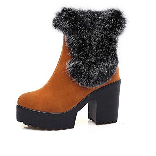 temporadas grueso 40 caucho H HCuatro heladas y yellow XIAOGANG Negro mujeres rojo antideslizante de desgaste amarillas botas resistente nieve al pE7wqxw