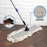 "JINCLEAN 24"" Industrial Cotton Floor Dust Mop with"
