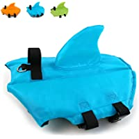 Snik-S Dog Life Jacket- Preserver with Adjustable Belt, Pet Swimming Shark Jacket for Short Nose Dog (Pug,Bulldog,Poodle…