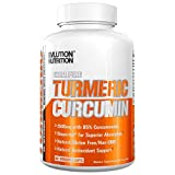 Evlution Nutrition Turmeric Curcumin with Bioperine 1500mg. Premium Pain Relief & Joint Support