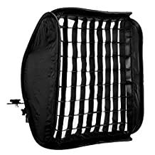 CowboyStudio 24speedlite-grill-softbox 24-Inch Portable Foldable Off-camera Flash Portrait Softbox with Grid for Speedlites