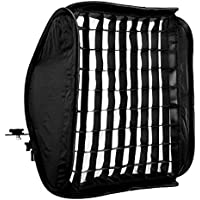 CowboyStudio 16in Portable, Foldable Off-Camera Flash Photography Studio/Portrait Softbox with Grid, Flash Mount, and Case for Nikon Canon Speedlight Ex430 Ex580 Sb600 Sb800