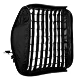CowboyStudio 20 Inch Portable Foldable Off-camera Flash Speedlite Softbox with Grid for Speedlites