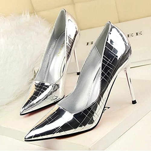 Party Stiletto Hauts couleur uk4 Sunny Taille Talons cn36 Pointu D'or Femmes Silver Rencontres Robe Mode Eu36 Sexy qSwg8v