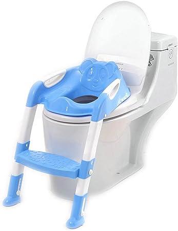 kentop orinal Trainer Entrenador de inodoros Niños orinal plegable asiento de inodoro para niños con escalera, PP, azul, 40 cm: Amazon.es: Hogar