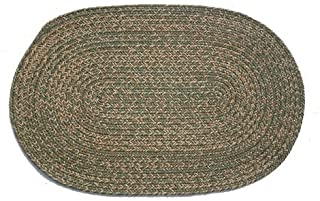 product image for Oval Braided Rug (5'x7'): Melissa Blend- No Band