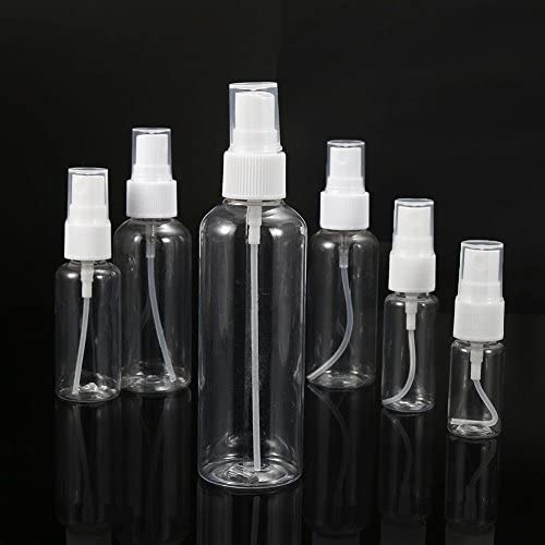 Ddfly 5pcs Transparent Plastic Empty Spray Bottle Beauty Perfume Atomiser Water Spray Bottle Pump (10 ml)
