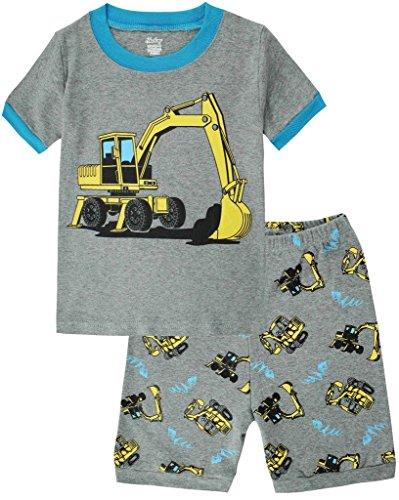 Boys Short Pj (Boys Pajamas Truck Cotton Kids Clothes Short Sets Size 3Y)