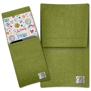 SIMON PIKE Cáscara Funda de móvil Sidney 9 verde ASUS PadFone 2 Fieltro de lana