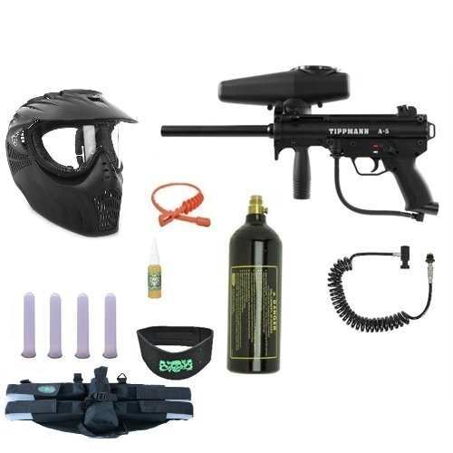 TIPPMANN A5 Gun 4+1 Xray MEGA Set + Remote + Neck Guard