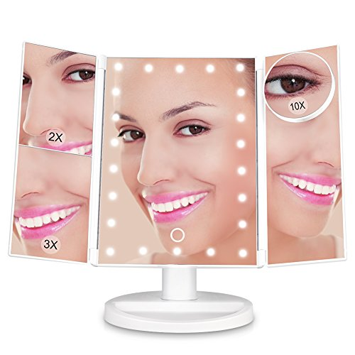 LUNSY Makeup Vanity Mirror with 22 Dimmable LED