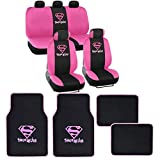 Warner Brothers Supergirl Seat Cover, Floor Mat for Car - Auto Accessories
