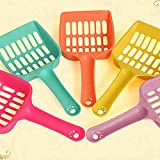 Smdoxi Cat Litter Scoop Pet Shovel Sand Scoop Perfect Designed Sifter Spacing for Efficient and Most Effective Kitty Litter Box Cleaning Deep Shovel Sifter Easy to Clean (Random)