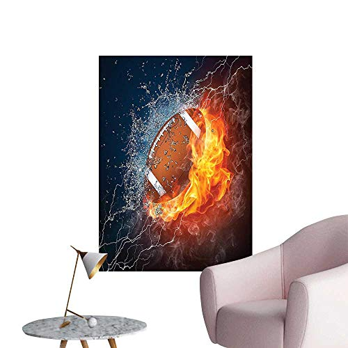 (Wall Stickers for Living Room Football Fire and Water Splashing Thunder Lightning Abstract Vinyl Wall Stickers Print,16