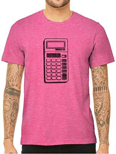 Austin Ink Apparel 90s Retro Calculator Short Sleeve Triblend Unisex T-Shirt (Berry Pink, (Blackberry Calculator)