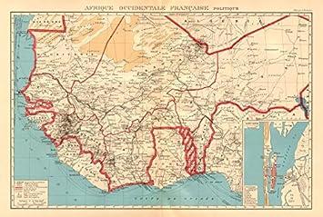 Amazon Com French West Africa Afrique Occidentale Francaise Saint