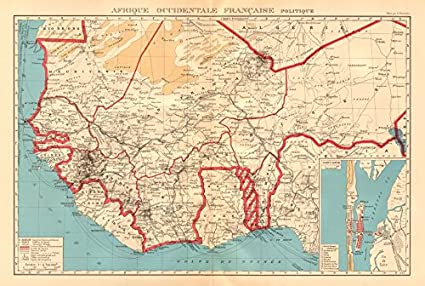 Francés África Occidental. Afrique Occidentale Française. Saint-Louis, Senegal – 1938 Antiguo