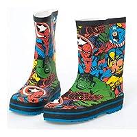 horizon where hope spread Little Kids Non-Slip Rain Boots Outdoor Cute Cartoon Children Slip On Shoes (13M Little Kid, Multicoloured)