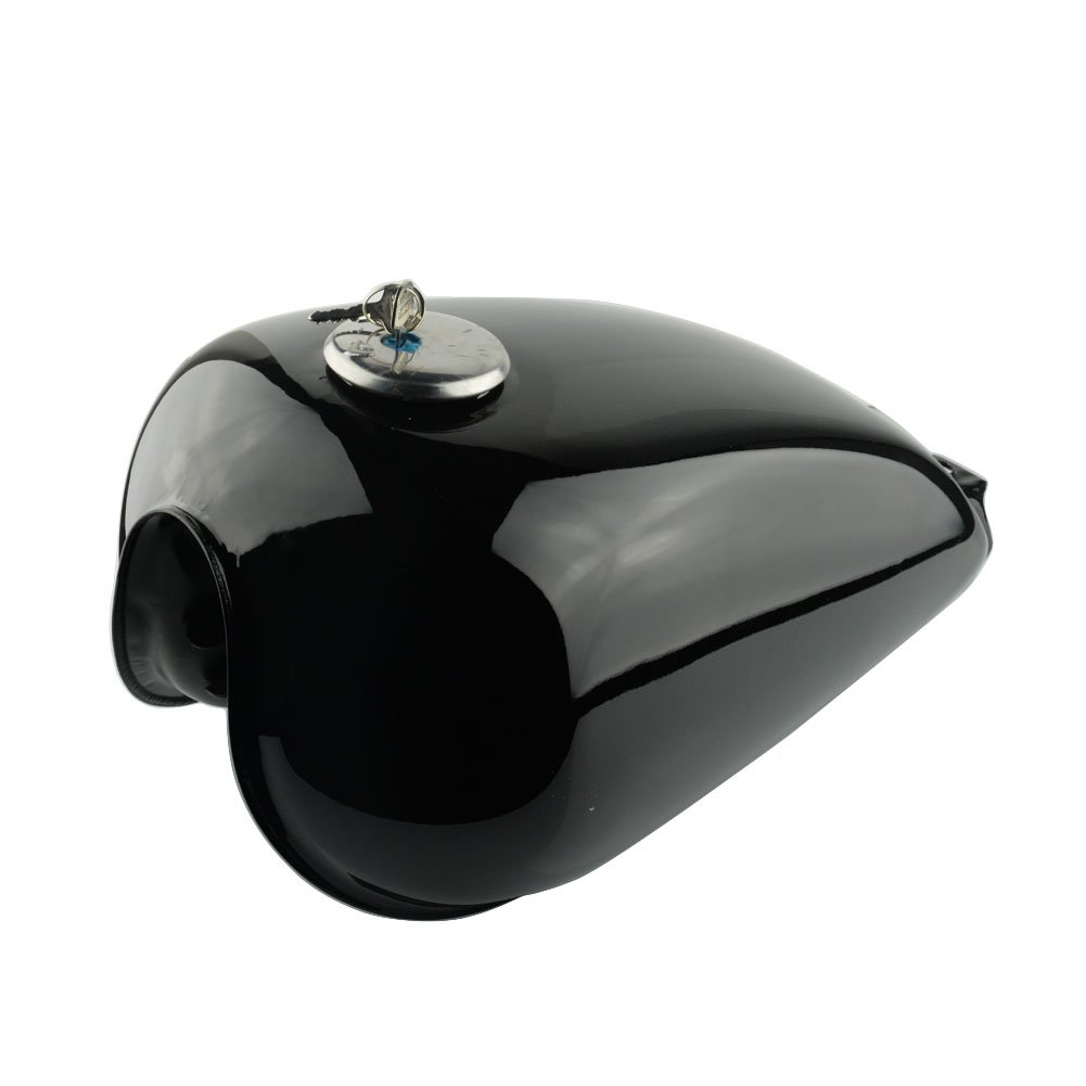 Gloss Black Motorcycle Vintage Gas Fuel Tank Oil Box Gallon Cafe Racer Black Fuel Gas Tank For Suzuki GN125 GN250