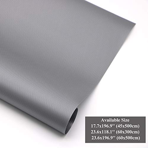 Hersvin Shelf Liners 23.6x196.9 Inch Non-Slip Non-Adhesive Waterproof EVA Cupboard Cabinet Pad Drawer Fridge Mat Anti-Fouling Anti-Moisture for Home Office (Gray/Diamond, - Pad Drawer Liner