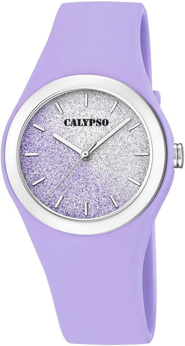 Calypso Watches Reloj Analógico para Mujer de Cuarzo con Correa en Plástico K5754/2