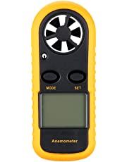 KKmoon Digital Beaufort Wind Speed Scale Temperature Anemometer LCD Display with Backlight Speed Range( Black)