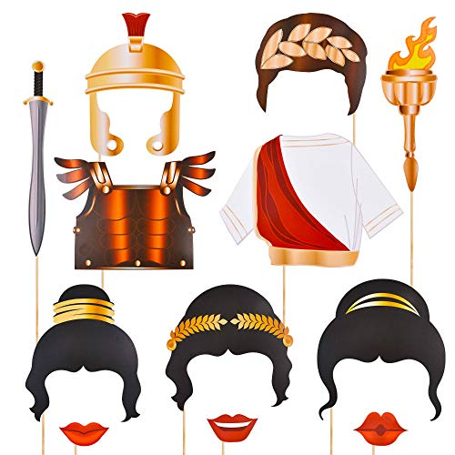 Toga Party Photo Booth Props Bizoerade 27pcs Greek Theme Party