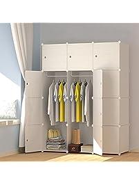 MEGAFUTURE Wood Pattern Portable Wardrobe ...