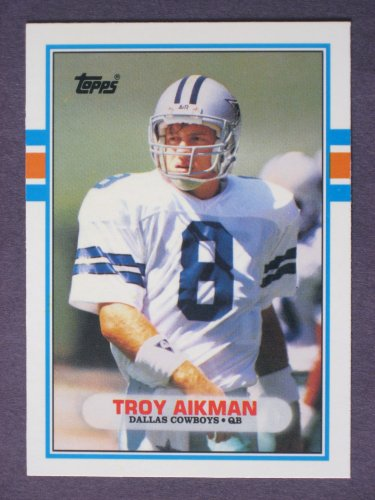 """1989 Topps Traded Football TROY AIKMAN, RC """"Rookie Card"""" #70T, NM-MT, Dallas Cowboys"""