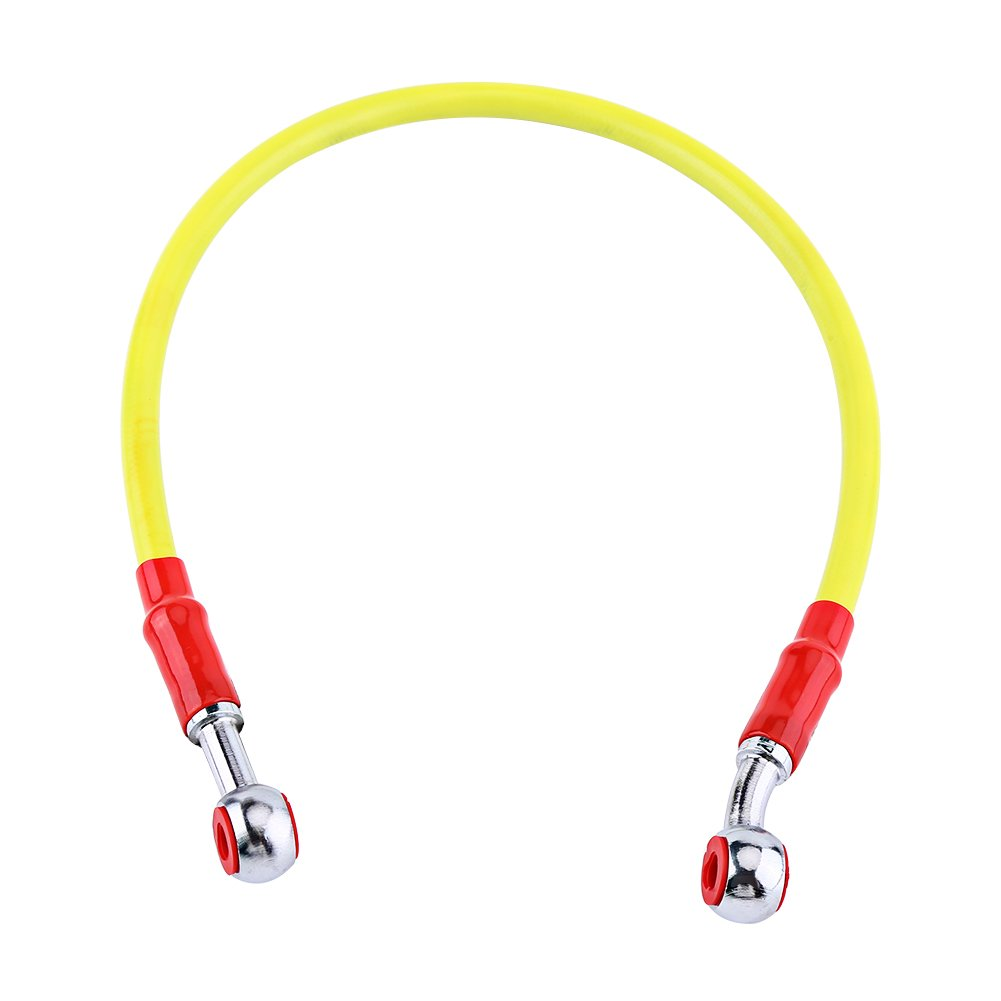 Brake Oil Hose Line 45//90 cm Keenso M10 Universal Motorcycle Brake Oil Hose Fuel Tube Line Fitting Stainless Steel Braided 90 cm-Red