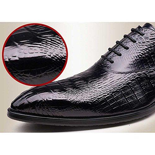 Fulinken Echte Alligator Reliëf Leer Veter Oxford Schoenen Heren Zakelijke Formele Kleding Schoenen Zwart