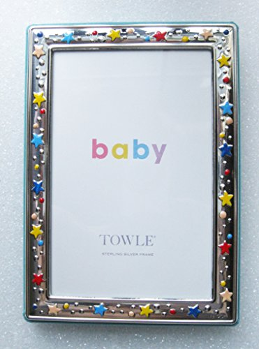 Towle Sterling Silver Frame with Colorful Stars and ()