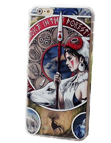 Sagittarius.kyt Mucha-style relief Heroines of MIYAZAKI movies Cellphone case for iphone5,5s (Princess Mononoke) by Sagittarius.kyt