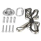 Greensen 1100lbs Heavy Duty Hanging Tool Kits Swing Hammock Chair, Ceiling Hooks Tree Swing Hanging Straps