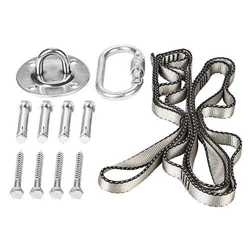 Greensen 1100lbs Heavy Duty Hanging Tool Kits Swing Hammock Chair, Ceiling Hooks Tree Swing Hanging Straps by Greensen