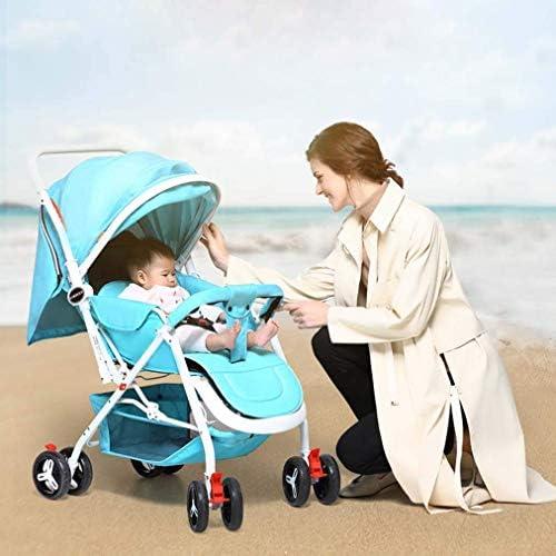 WRJY Leichter kompakter Kinderwagen, Kinderwagen, All Terrain Convenience Carriage Stroller Travel Tall Kinderwagen für Kleinkinder Big Kids Single Stroller, Lila