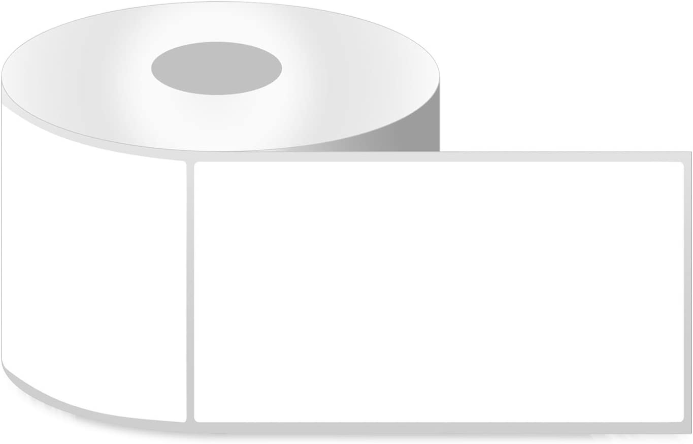 """4"""" x 6"""" [ OfficeSmartLabels ] ZE1400600 Direct Thermal Labels, Compatible with Zebra Printers for Postage Barcode Shipping Desktop Printer Sticker - 4 Rolls / 1"""" Core"""