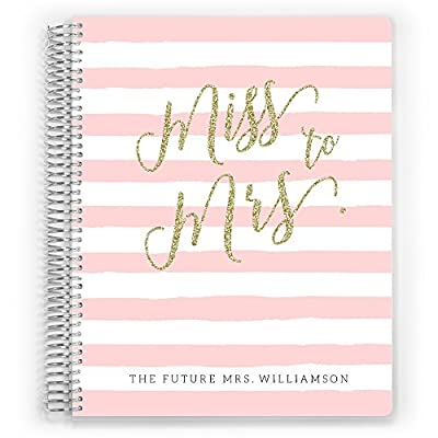Customized Wedding Planner, Custom Engagement Gift, Wedding Organizer, Bride Planner, Miss to Mrs Wedding Planner by PurpleTrail