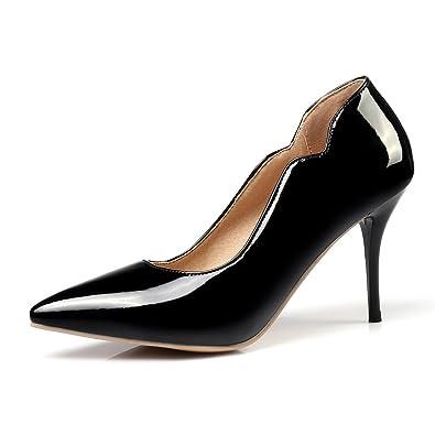 04c8ac468fd9 fereshte Women s Spirng Autumn Lightweight Slip-on Pointed-Toe Stiletto  High Heels Pumps