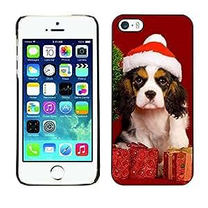 TaiTech / Prima Delgada SLIM Casa Carcasa Funda Case Bandera Cover Armor Shell PC / Aliminium - Navidad del perro de perrito - iPhone 5 / 5S