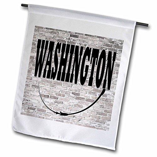 3dRose RinaPiro - US States - Washington. State Capital is Olympia. - 18 x 27 inch Garden Flag - Capital Of State Washington Olympia