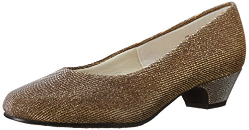 Soft Gold Footwear - Soft Style by Hush Puppies Women's Angel II Dress Pump, Gold/Silver Cosmic, 7.5 W US