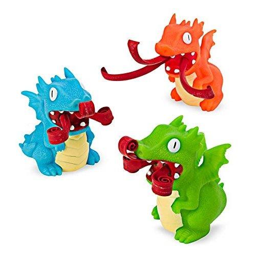 Schylling Curly Pop Dragon, 1 EA - Fire Blue Dragon Breathing
