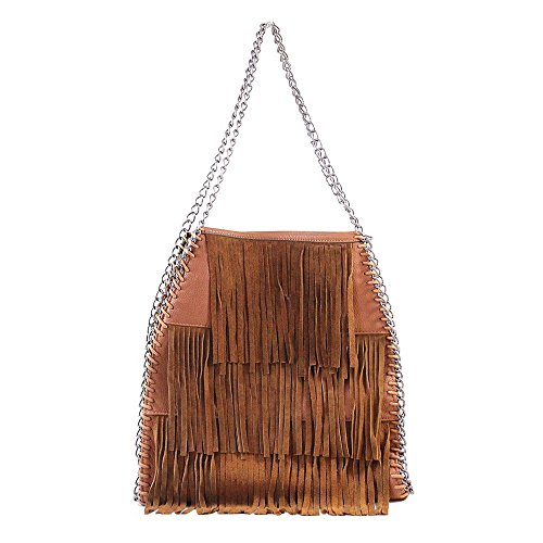 Tom & Eva 81265 fringed bag brown