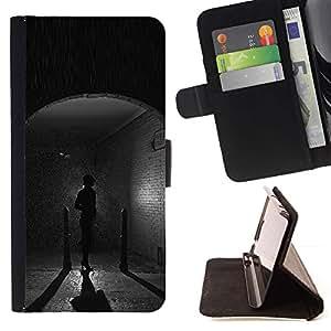 Momo Phone Case / Flip Funda de Cuero Case Cover - Cobblestone pioggia - LG OPTIMUS L90