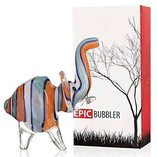 Epic Hand Elephant Glass Device 5 inch Red Orange (Smoking Elephant Glass Pipe)