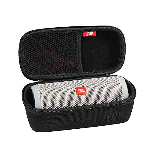 Hermitshell Hard Travel Case Fits JBL Flip 3 / Flip 4 Splashproof Portable Bluetooth Speaker (Black)