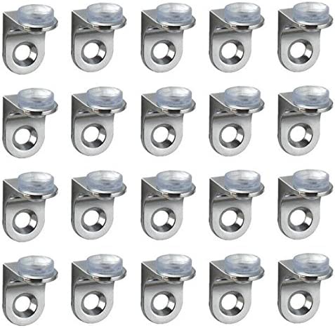 Stainless Steel 90 Degree Angle Glass Shelf Support Fixing Clip Bracket 4pcs