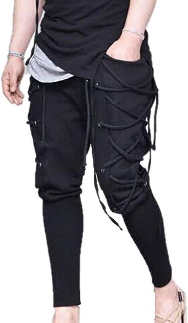 Kasonj Pantalones Con Cordones Para Hombre Medieval Viking Navigator Pirata Pantalones De Traje Pantalones Goticos Del Renacimiento Amazon Es Ropa Y Accesorios